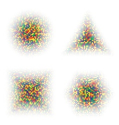 Color Halftone Shapes vector image