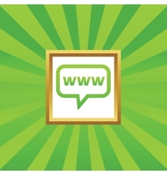 Www message picture icon vector