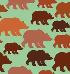 Brown bear seamless pattern background of wild vector