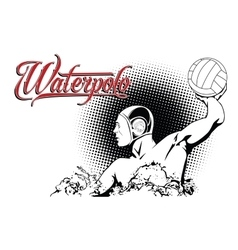 Summer kinds of sports water polo vector