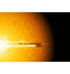 Hi-tech orange design vector image