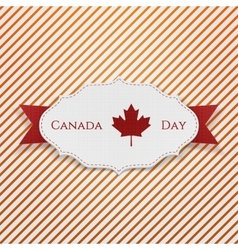 Canada day sign on realistic tag vector