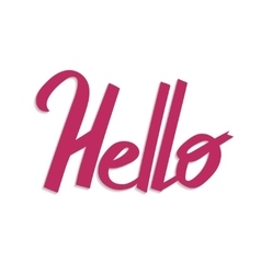 Hello handdrawn word letteryng good for t-shirts vector