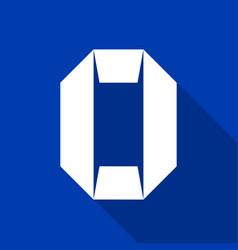 Alphabet paper cut number vector