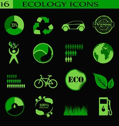 Ecology icons emblem vector image