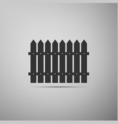 fence flat icon on grey background vector image