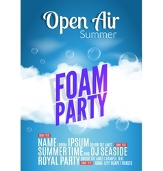 Foam Party summer Open Air Beach foam party vector image
