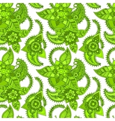 Green color line seamless design vector image