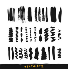 grunge ink brush strokes design elements vector image vector image