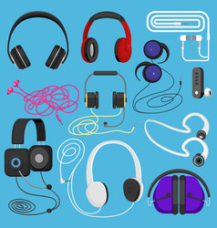 Headphones headset to listen vector
