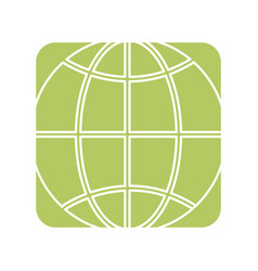 Label global symbol to earth planet vector