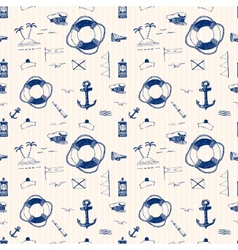 Marine pattern ballpoint pen vector