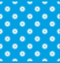 Round army shield pattern seamless blue vector