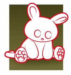 sad rabbit vector image