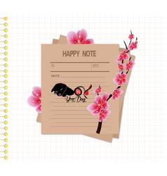Sakura flowers background cherry blossom happy vector