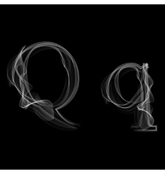 Smoke font letter q vector
