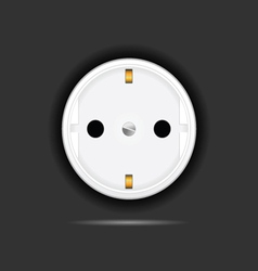 socket on black background vector image