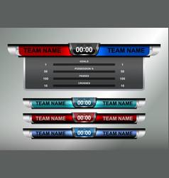 Sport scoreboard design elements vector