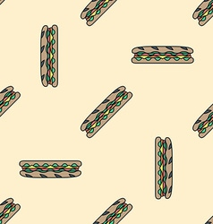 Sub sandwich colored seamless pattern vector