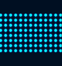 the bright blue circles on a dark background vector image vector image