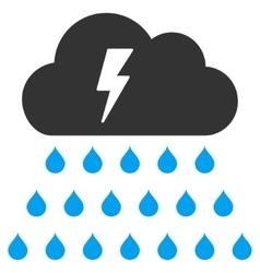 Thunderstorm Rain Cloud Flat Icon vector image vector image