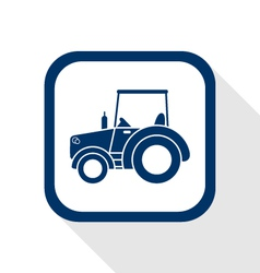 Tractor flat icon vector