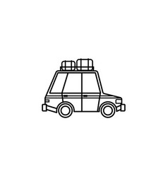 travel car line icon travel tourism vector image