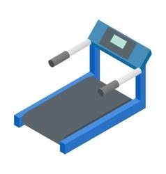Treadmill 3d isometric icon vector image