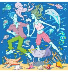 Underwater world vector