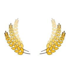 Wheat branches icon image design vector