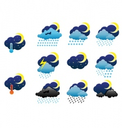 weather icons vector image