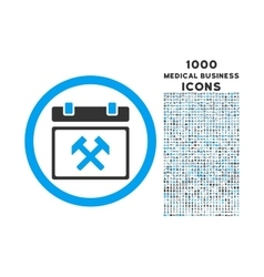 Working calendar day rounded icon with 1000 bonus vector