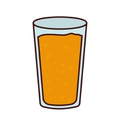 Isolated beer glass design vector