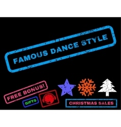 Famous dance style rubber stamp vector