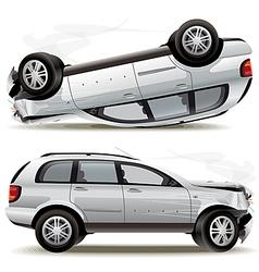 Crash car vector