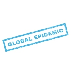 Global epidemic rubber stamp vector