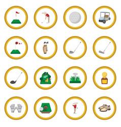 Golf cartoon icon circle vector