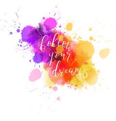 multicolored splash watercolor blot vector image