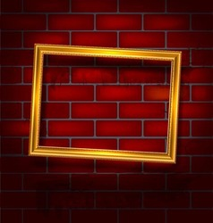 Frame on the red brick wall vector