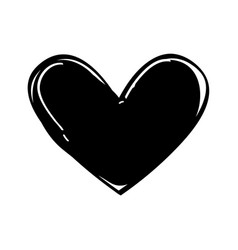 heart love black icon vector image