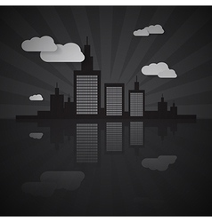 Night city scape vector