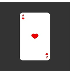 Ace playing card on gray vector