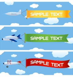 Planes with message vector