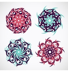 Circle ornament with ethnic motives vector