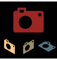 Photo camera icon vector