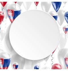 Slovak national flag vector