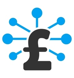 Pound relations flat icon symbol vector