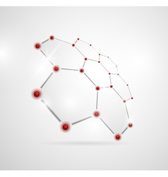 Abstract molecular structures vector