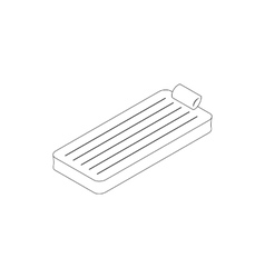 Floating air mattress icon isometric 3d style vector