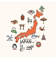 Japan concept travel vector